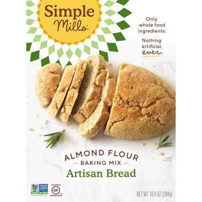 Купить Simple Mills Натуральный продукт без глютена, смесь миндалевой муки, ремесленный хлеб, 10, 4 унции (294 г)