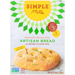Simple Mills, Naturalmente sin gluten, Mezcla de harina de almendras, Pan artesanal, 10,4 oz (294 g)