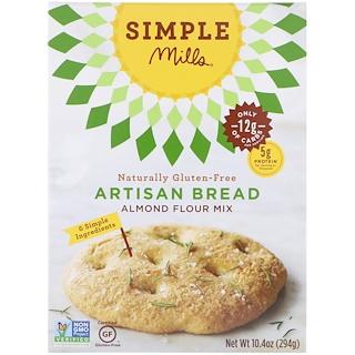 Simple Mills, ナチュラリー・グルテンフリー、アーモンド粉ミックス、手作りパン、10.4オンス (294 g)