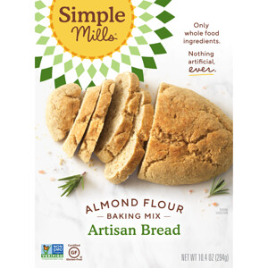 Simple Mills, Naturally Gluten-Free, Almond Flour Mix, Artisan Bread, 10.4 oz (294 g) отзывы покупателей