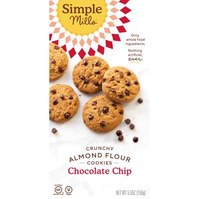 Купить Simple Mills Naturally Gluten-Free, Chocolate Chip Cookie Almond Flour Mix, 9, 4 унц. (265 г)