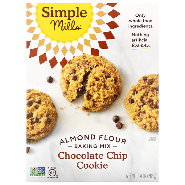 Almond Flour Baking Mix, Chocolate Chip Cookie, 9.4 oz (265 g)