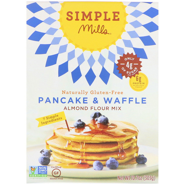 Naturally Gluten-Free, Almond Flour Mix, Pancake & Waffle, 10.7 oz (303 g)