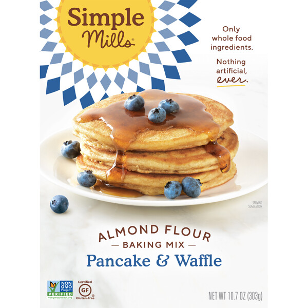 Simple Mills, Naturally Gluten-Free, Almond Flour Mix, Pancake & Waffle, 10.7 oz (303 g)