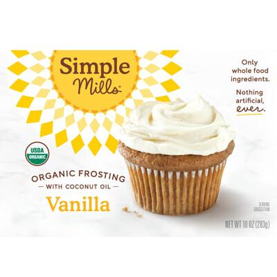 Купить Simple Mills Органический продукт, ванильный иней с кокосовым маслом, 10 унций (283 г)