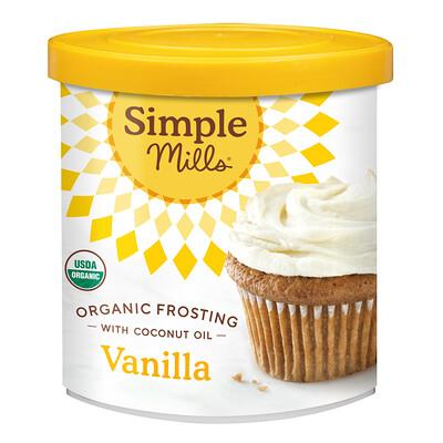 Купить Simple Mills органическая глазурь с кокосовым маслом, вкус ванили, 283г (10унций)