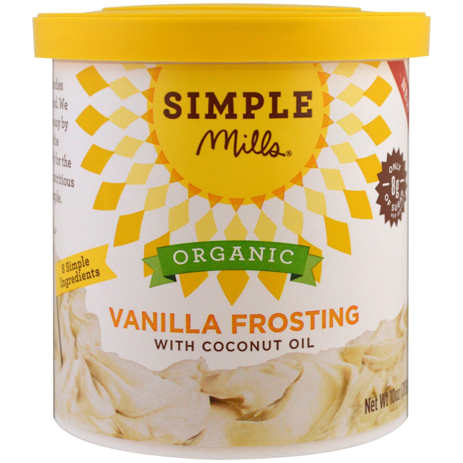 Simple Mills, Органический продукт, ванильный иней с кокосовым маслом, 10 унций (283 г)