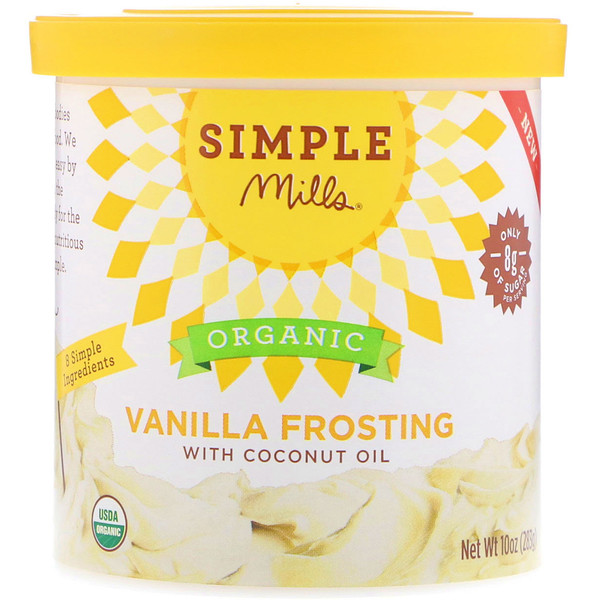 Simple Mills, Organic, Vanilla Frosting with Coconut Oil, 10 oz (283 g)