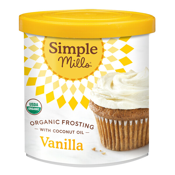 Simple Mills, Organic Frosting with Coconut Oil,  Vanilla, 10 oz (283 g)