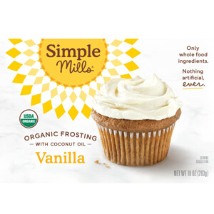 Simple Mills, Organic, Vanilla Frosting with Coconut Oil, 10 oz (283 g) отзывы покупателей