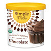 Simple Mills, Organic Frosting with Coconut Oi, Chocolate, 10 oz (283 g)