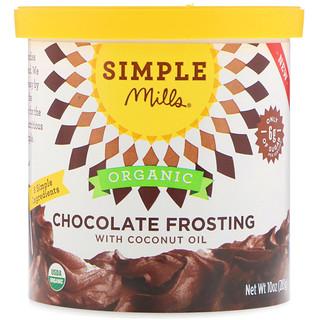 Simple Mills, Bio, Schokoladenglasur mit Kokosöl, 283 g
