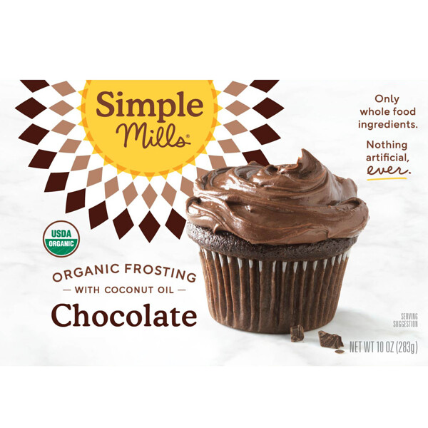 Simple Mills, Organic, Chocolate Frosting with Coconut Oil, 10 oz (283 g)