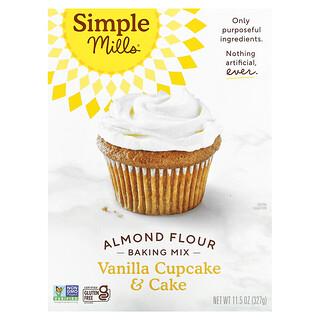 Simple Mills, Almond Flour Baking Mix, Vanilla Cupcake & Cake, 11.5 oz (327 g)