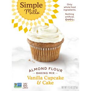 Simple Mills, Naturally Gluten-Free, Almond Flour Mix, Vanilla Cupcake & Cake , 11.5 oz (327 g) отзывы покупателей