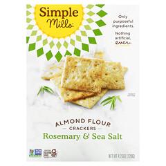 Simple Mills, 巴旦木粉餅乾,迷迭香和海鹽,4.25 盎司(120 克)