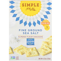 Naturally Gluten-Free, Almond Flour Crackers, Fine Ground Sea Salt, 4.25 oz (120 g) - фото