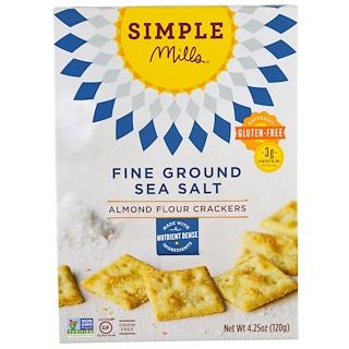 Simple Mills, 내추럴리 글루텐 프리, 아몬드 가루 맛, 곱게 간 바다 소금, 4.25 oz (120 g)