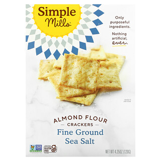 Simple Mills, Almond Flour Crackers, Fine Ground Sea Salt, 4.25 oz (120 g)
