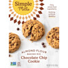 Simple Mills, Naturally Gluten-Free, Crunchy Cookies, Chocolate Chip, 5.5 oz (156 g)