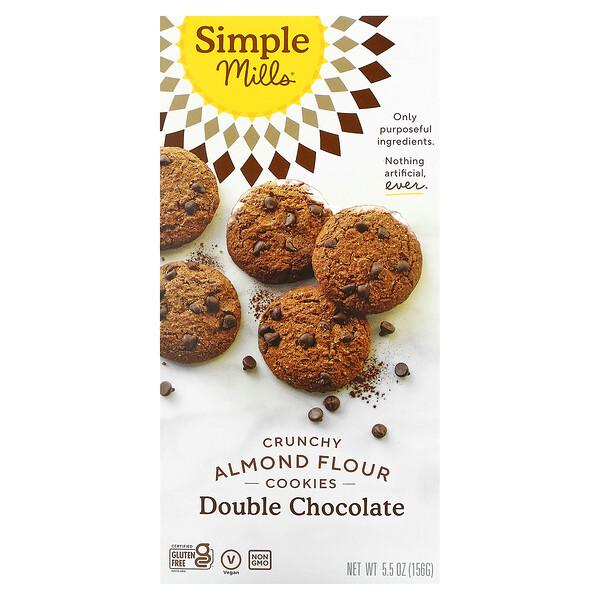 Crunchy Almond Flour Cookies, Double Chocolate, 5.5 oz (156 g)