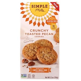 Simple Mills, 天然のグルテンフリー、クランチートースト・ピーカンクッキー、5.5 oz (156 g)
