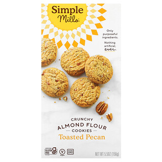 Simple Mills, Crunchy Almond Flour Cookies, Toasted Pecan, 5.5 oz (156 g)