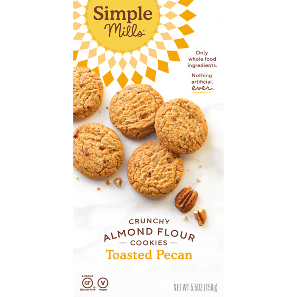 Naturally Gluten-Free, Crunchy Cookies, Toasted Pecan, 5.5 oz (156 g)