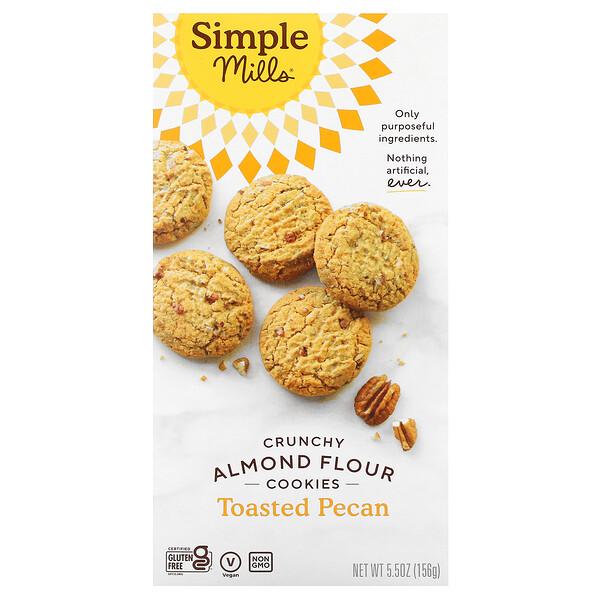 Crunchy Almond Flour Cookies, Toasted Pecan, 5.5 oz (156 g)