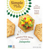 Simple Mills, Sprouted Seed Crackers, Jalapeno, 4.25 oz (120 g)