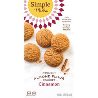 Simple Mills, натуральное хрустящее печенье без глютена, корица, 156г (5,5унции)