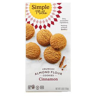 Simple Mills, Naturally Gluten-Free, Crunchy Cookies, Cinnamon, 5.5 oz (156 g)