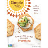 Simple Mills, Sprouted Seed Crackers, Everything, 4.25 oz (120 g)