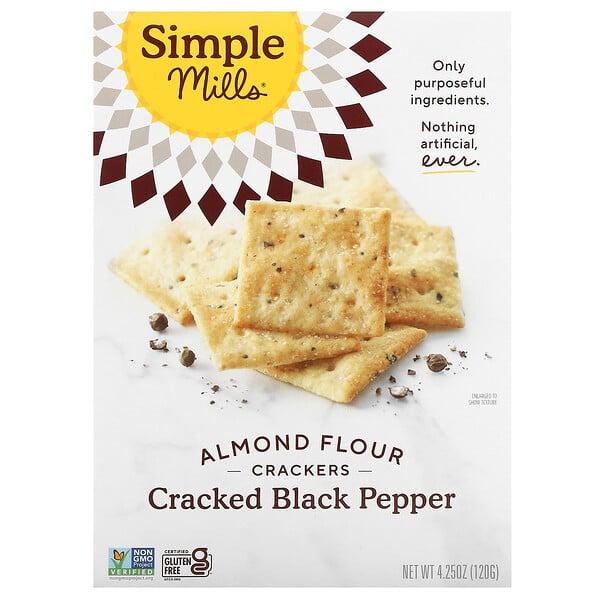 Almond Flour Crackers, Cracked Black Pepper, 4.25 oz (120 g)