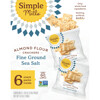 Simple Mills, Naturally Gluten-Free, Almond Flour Crackers, Fine Ground Sea Salt, 4.9 oz (138 g)