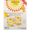 Simple Mills, Naturally Gluten-Free, Almond Flour Crackers, Farmhouse Cheddar, 6 Packs, 0.8 oz (23 g) Each