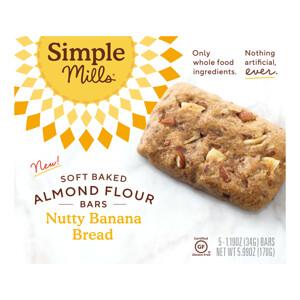Simple Mills, Soft-Baked Almond Flour Bars, Nutty Banana Bread, 5 Bars, 1.19 oz (34 g) Each отзывы