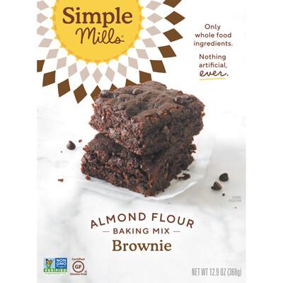Купить Simple Mills Естественно без глютена, смесь с миндальной мукой, брауни, 12, 9 унц. (368 г)
