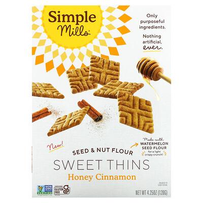 Simple Mills Sweet Thins, Seed & Nut Flower, Honey Cinnamon, 4.25 oz (120 g)