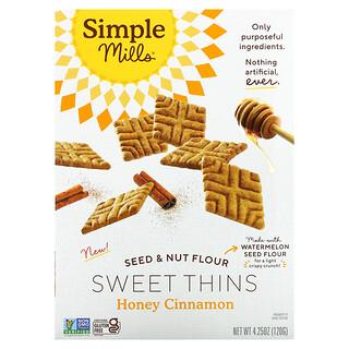 Simple Mills, Seed & Nut Flour Sweet Thins, Honey Cinnamon, 4.25 oz (120 g)