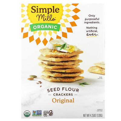 Купить Simple Mills Organic Seed Flour Crackers, Original, 4.25 oz (120 g)