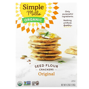 Simple Mills, Organic Seed Flour Crackers, Original, 4.25 oz (120 g)