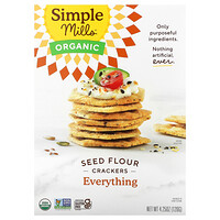 Simple Mills, Organic Seed Flour Crackers, Everything, 4.25 oz (120 g)