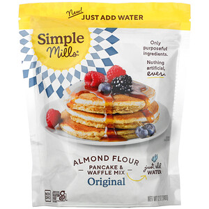 Simple Mills, Almond Flour Pancake & Waffle Mix, Original, 12 oz (340 g)'