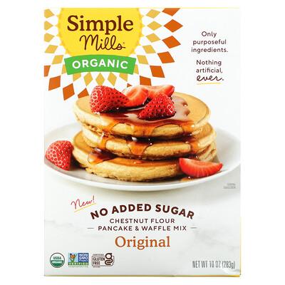 Купить Simple Mills No Added Sugar, Chestnut Flour Pancake & Waffle Mix, Original, 10 oz (283 g)