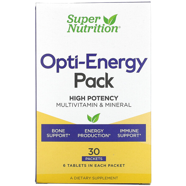 Opti-Energy Pack, MultiVitamin & Mineral, 30 Packets, (6 Tablets) Each