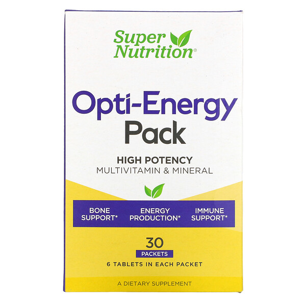 Opti-Energy Pack, Multivitamin & Mineral, 30 Packets, 6 Tablets Each