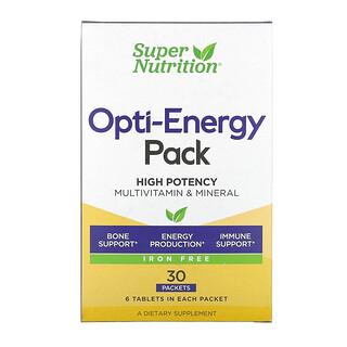 Super Nutrition, Opti-Energy, Suplemento multivitamínico y mineral para una energía óptima, Sin hierro, 30sobres