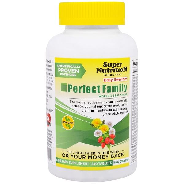 Super Nutrition, Perfect Family, мультивитаминная/мультиминеральная добавка, 240 таблеток (Discontinued Item)