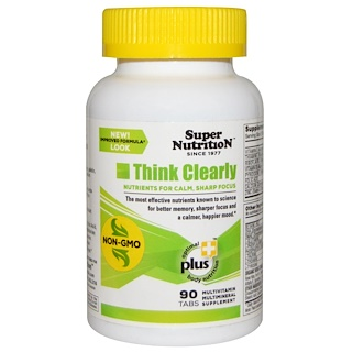 Super Nutrition, Think Clearly, 90 Tabs